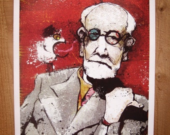 Sigmund Freud's Only In Dreams - 12x18 Officially Signed, Dated and Hand-Stamped Art Print
