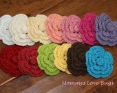 Flower Crochet Hair Clips - Package of 3