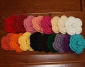 Non-Slip Crochet Flower Hair Clips - Pick any 3
