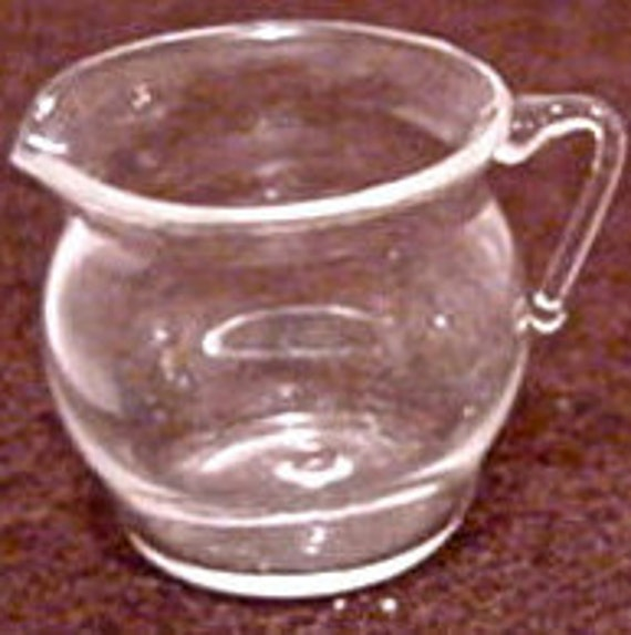 Hand Blown Glass Bubble Pitcher Three Quarter Inch High & Ready To Fill No20