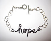 Hope Bracelet Silver Plated Infinity Wire Wrapped Inspirational Unique Gifts