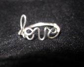 Silver Love Ring Wire Wrapped Unique Gifts Dainty Love Ring Friendship Ring Gift For Her Gifts Under 20