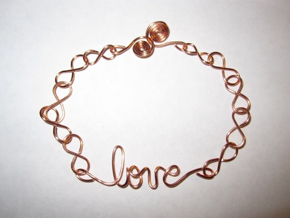 Love Bracelet Infinity Copper Wire Wrapped Friendship Bracelets Anniversary Birthday Gifts