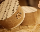 Burlap wired ribbon