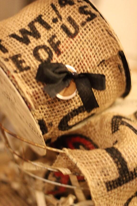 Potato Sack Burlap Wired Ribbon