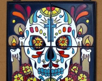 Day of the Dead Tile Altar Mural