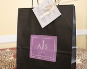 Wedding Welcome Guest Black Bag Hotel Lavender and White