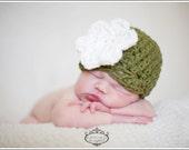 BOGO SALE Newborn Chunky Flower Cloche - YOU CHOOSE COLOR