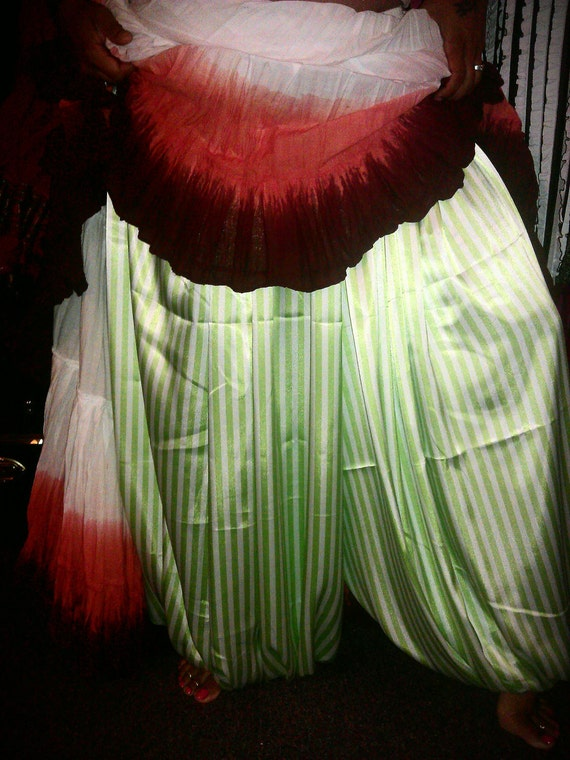 Charmeuse Satin 5 yard Stripe Pantaloons - 8 different color choices all colors available
