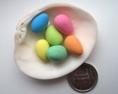 Miniature Easter Eggs for Craft in Pastel Blue, Green, Pink, Salmon, Orange, Pistachio