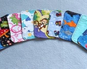 Flannel Mini Wipes Set of 10 - Assorted Prints