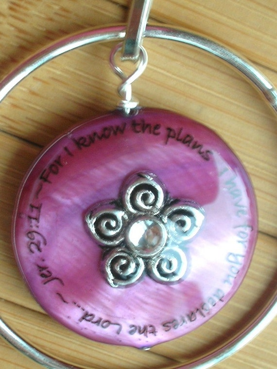 For I know the plans I have for you declares the Lord... purple/plum shell pendant