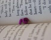 Button Earrings - Purple
