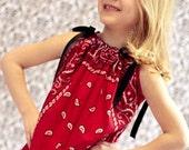 Bandana Dress/Tunic - Red