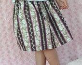 Twirl Skirt - Pink and Brown - Girls 6/7