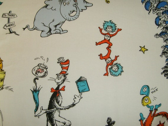 Sale-Dr. Seuss Pottery Barn Fabric 40x30