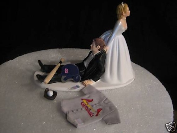 st louis cardinals baseball wedding cake topper groom 39 s cake