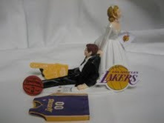 Los Angeles La Lakers Basketball Wedding Cake Topper By