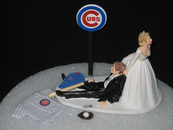 Chicago Cubs BASEBALL Grooms Cake Topper Wedding MLB