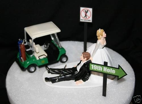 golf themed wedding cake toppers golf themed wedding cake topper grooms cake 14845