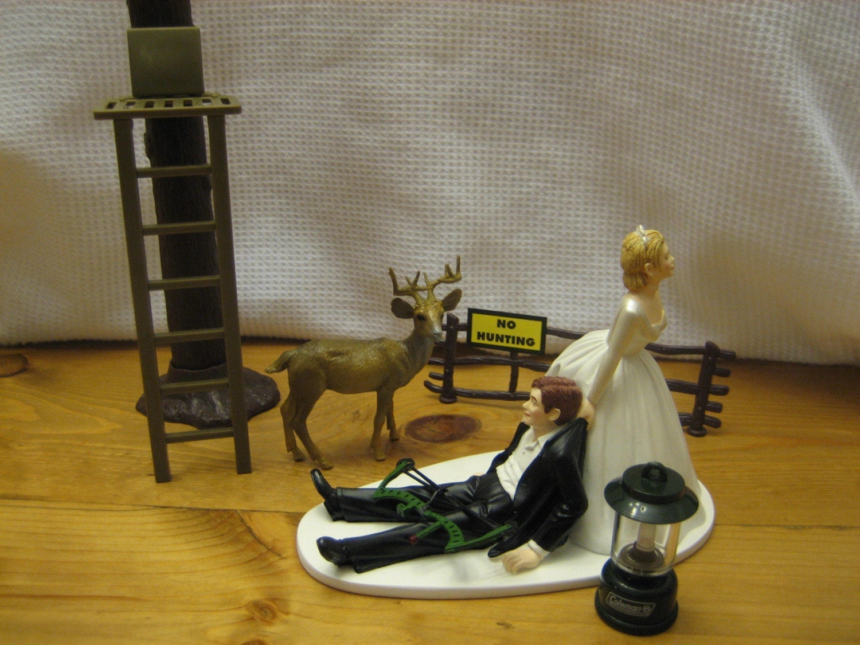 Deer Hunting Wedding cake topper Groom s Cake bow