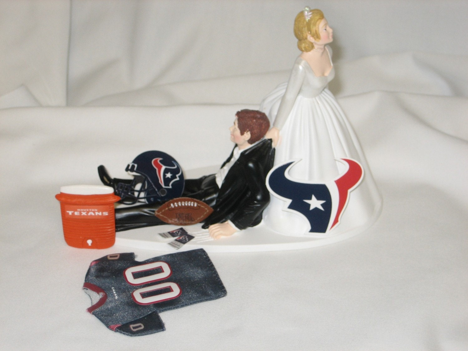 wedding cake toppers in houston tx houston texans wedding cake topper groom by finsnhorns 26508