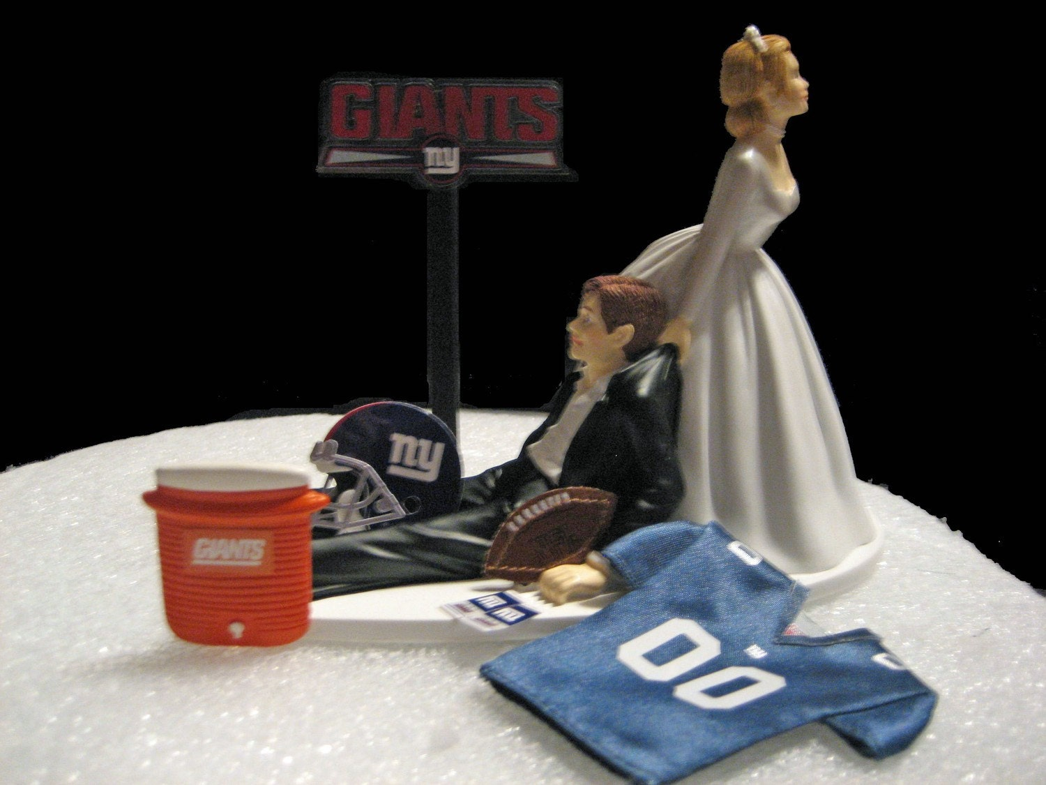 new york themed wedding cake toppers new york giants wedding cake topper groom by finsnhorns 17834