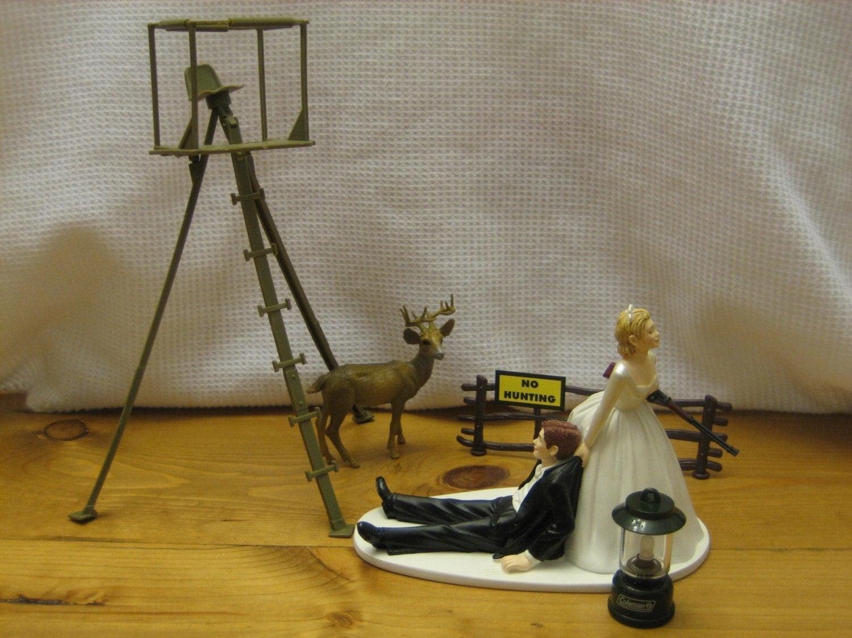 Deer Hunting Wedding Cake Topper Groom's Cake Deer Stand