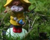 Hallmark Little Girl Miniature in red galoshes