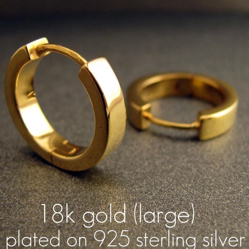 to wear - Hoop gold earrings for men video