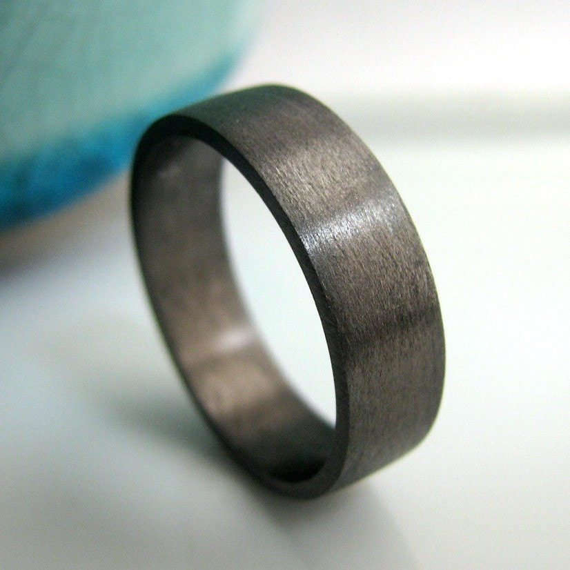 Wedding Band 5mm to 6mm Wide Black Gold Plated by 360JewelsElite
