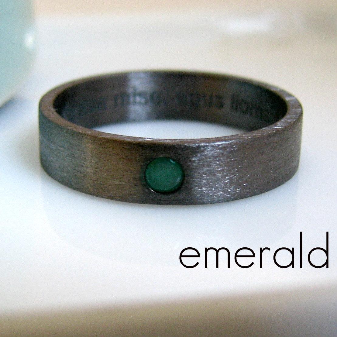 5 6mm emerald wedding band black gold black gold wedding band zoom