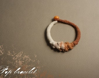 Sale - Crochet bracelet - pop snake- Item of the month