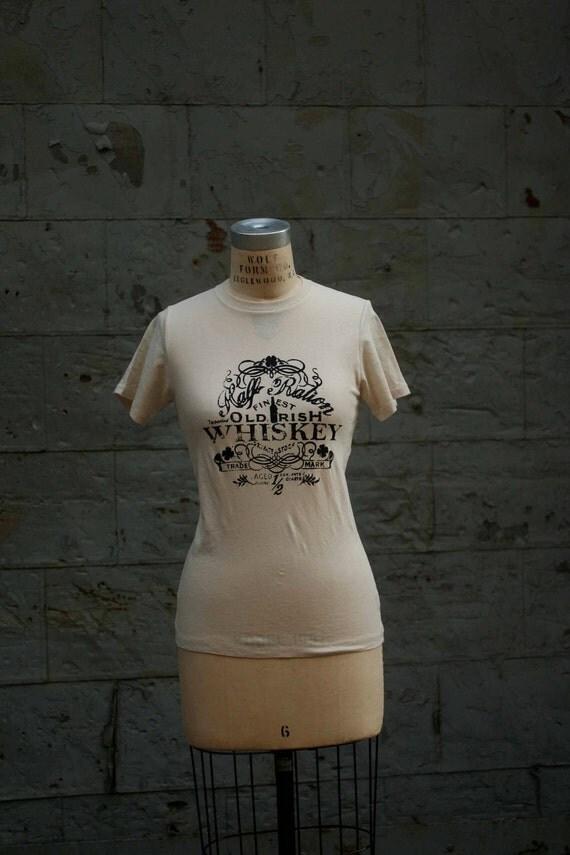 Whiskey Tee Organic Cotton XSmall  ready to ship