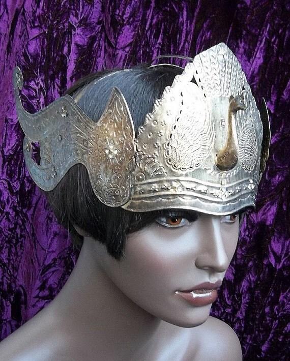 Vintage tiara, Indonesian Sumatra peacock bridal crown headdress hair accessory