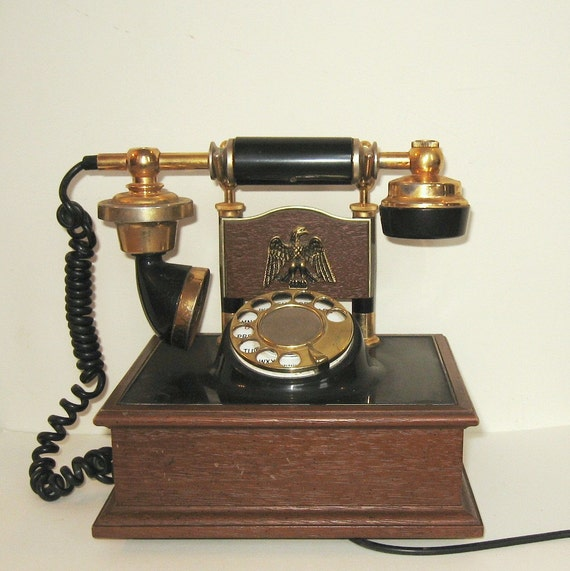Vintage Decotel French Rotary Phone Eagle Works
