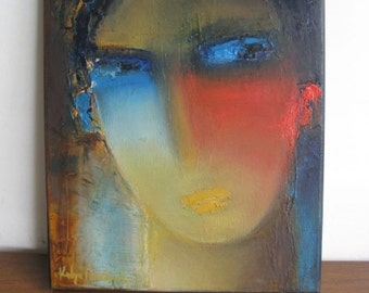 smoking hot guy portrait in oil on canvas original art from Toronto Canada one of a kind great gift idea