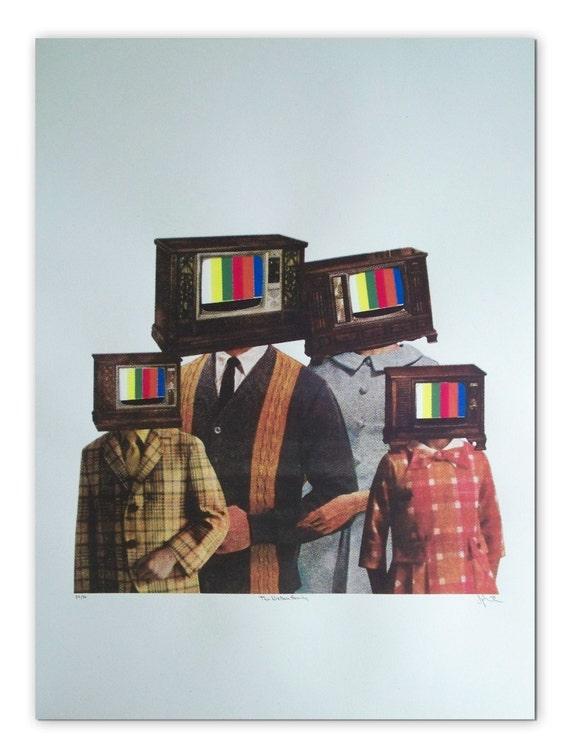 The Nielsen Family screenprint