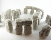 Fiber Art Stonehenge wool sculpture - a woolhenge needle felted monument