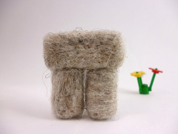 Stonehenge Fiber Art Wool Needle Felted Sculpture a unique home decor item