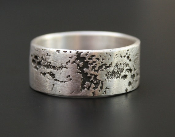 artifact -  unisex sterling silver ring,  size 11 1/4