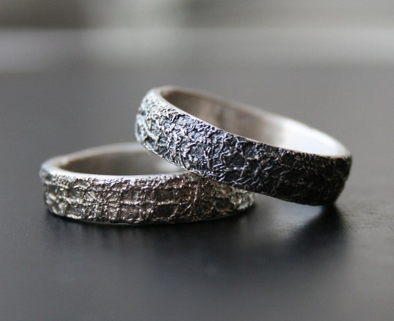 silver  lace stacking rings  - 2 rings, made to order