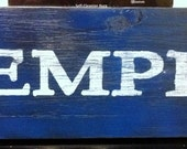 Memphis Hand Painted Wood Sign