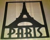 Eiffel Tower Paris silhouette large