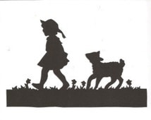 Mary had a little lamb Mother Goose collection silhouette