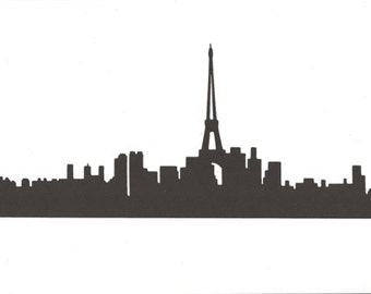 Paris skyline silhouette large