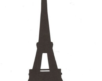 Eiffel Tower simple large silhouette