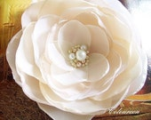 Samantha ... Bridal Flower Fabric Brooch or Hair Clip ---- SPECIAL PRICE
