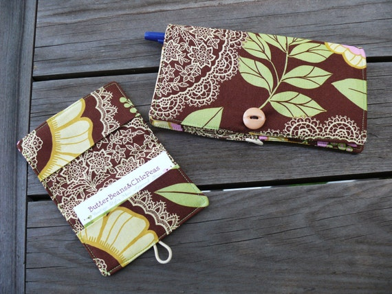Mothers Day Sale --- CUSTOM WALLET COMBO -- Large Wallet and Card Wallet.  You Pick Fabrics.  HandMade.