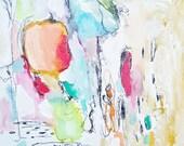 Sweet Dreams- Mixed Media Original- 8x8 Canvas- Beautiful, Contemporary Abstraction